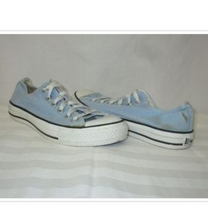 Converse Baby Blue Canvas Sneakers W8 M6